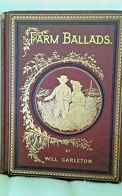 Rare  Antique  Book  Farm Ballads By Will Carelton  Illustrated Edition  Of 1873