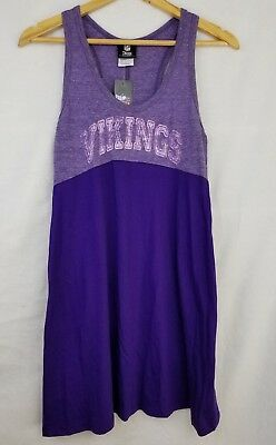 Minnesota Vikings Women's Purple Tank Top Dress Medium M NFL Sleepwear *NWT*