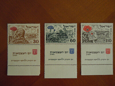 Timbres ISRAEL Michel n° 69/71