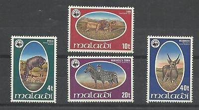 MALAWI 1978  Endangered Animals  W.W.F.  Lightly mounted mint set