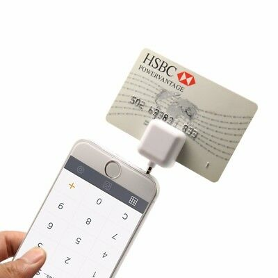 Mini credit Card Reader Works Support Apple and Android