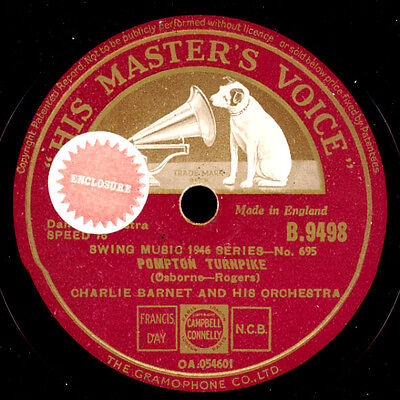 CHARLIE BARNET & HIS ORCHESTRA  Pompton Turnpike/Swingin' on nothin' 78rpm X749