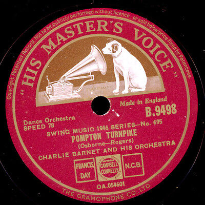 CHARLIE BARNET & HIS ORCHESTRA  Pompton Turnpike/Swingin' on nothin' 78rpm X1422