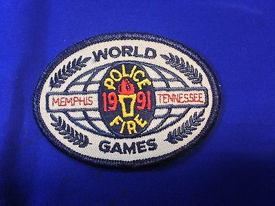 """World Police & Fire Games (1991) Patch (3.75"""" x 2.75"""")"""