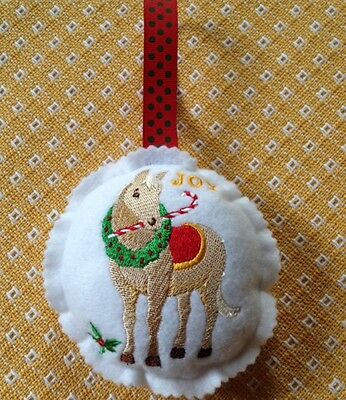 Horse Christmas Ornament custom embroidered