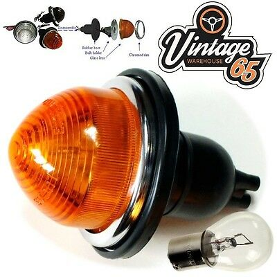 Land Rover Serie 80 90 Classic Early Style Glass Lens Indicator Light 12V+ Bulb