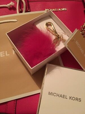 Michael Kors Pompom Raspberry Pink Brand New In Box £55 RRP With Bag