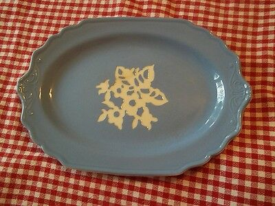 Harker Pottery Cameo Ware Blue  Platter