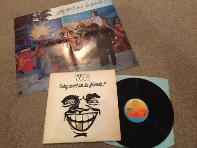 """War """"Why Can't We Be Friends"""" vinyl LP Island UK 1976 +poster EXCELLENT+"""