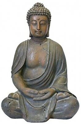 Cast Stone Resin Buddha Statue Decoration Antique Look Garden or Home Accent
