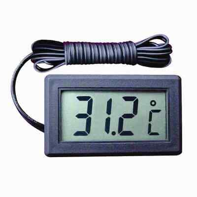 Digital Panel LCD Temperature Meter Thermometer Display Celsius 2 Meter Black