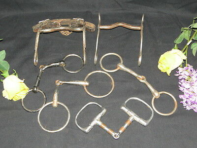 Lot Of 6 Different Horse Bits