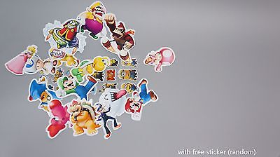 15 super mario stickers glossy party scrapbook t-shirt temporary tattoo sticker