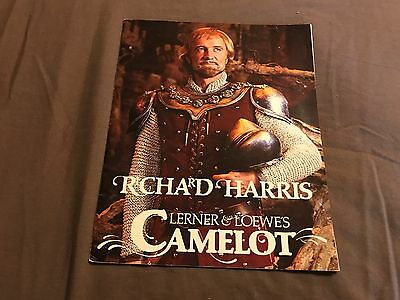 Camelot Theatre Program with Richard Harris 9/23/81 from Detroit Michigan