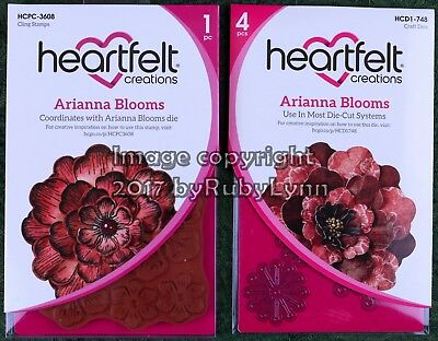 Heartfelt Creations Arianna Blooms Stamp & Die Sets HCPC-3608 & HCD1-748