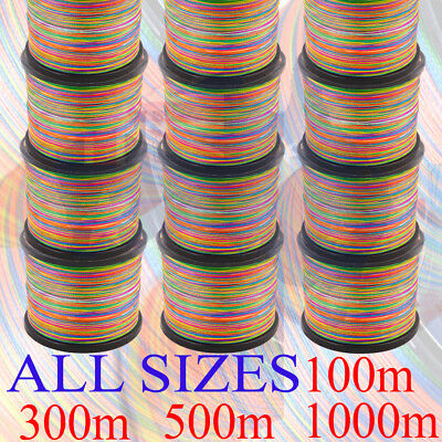 PFS 100% SPECTRA BRAID FISHING LINE 4 6 10 20 30 40 50 60 80 lb 300m 500m 1000m
