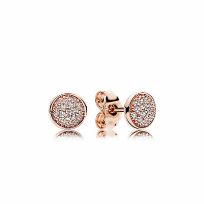 bed43bc29 DAZZLING DROPLETS PANDORA Rose GOLD Plated Cz PAVE Earring STUDS 280726CZ