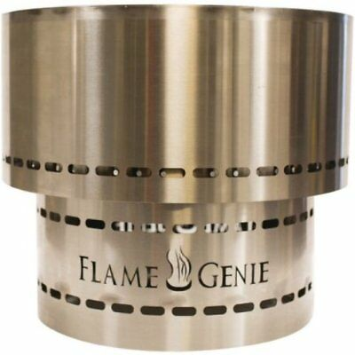 Flame Genie Inferno Stainless Steel Wood Pellet Fire Pit, Firepit FG-19-SS - 19""