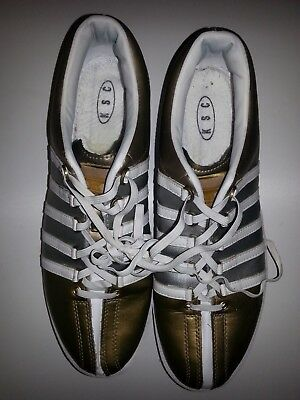 Royal Shakespeare Co. Costume - Men's K-Swiss Trainers Gold & Silver. UK 9