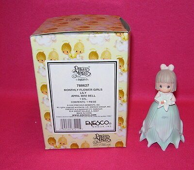 Precious Moments MONTHLY FLOWER GIRL APRIL Lily  Mini Bell
