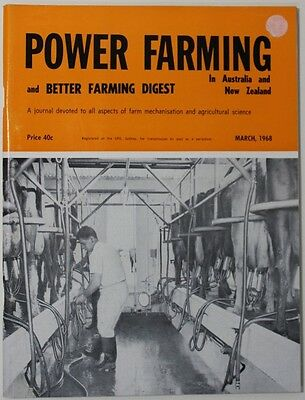 VINTAGE Agriculture: Power Farming Magazine March 1968 Vol 77 No 3 VG Condition