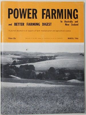 VINTAGE Agriculture: Power Farming Magazine March 1966 Vol 75 No 3 VG Condition