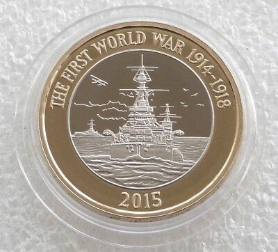 £2 Pound 2015 Royal Navy WW1 HMS Belfast  Uncirculated Coin From Sealed Bag