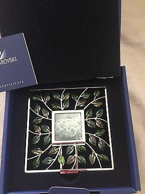 NEW IN BOX Authentic Swarovski Crystal Leaves Picture Frame Retired 861932 Hund
