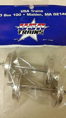 Metal Wheel Sets for Passenger Cars (2 Axles), USA Trains R2094