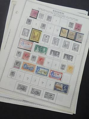 EDW1949SELL : BAHAMAS Mint & Used collection on album pages.