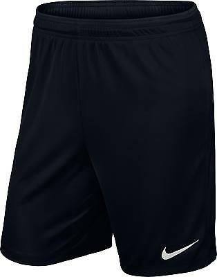 SHORTS FOOTBALL/ SOCCER NIKE PARK II MENS S to XXL BLACK GENUINE NIKE PRODUCT