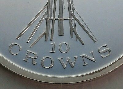 Turks & Caicos Islands 10 Crowns 1976. KM#12. Proof .925 Silver Crown coin. E·II