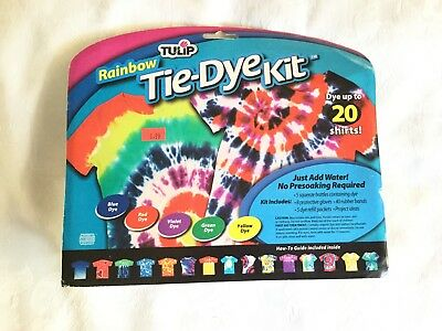NEW TULIP RAINBOW TIE-DYE KIT  for up to 20 Shirts 5 colors & Project Ideas
