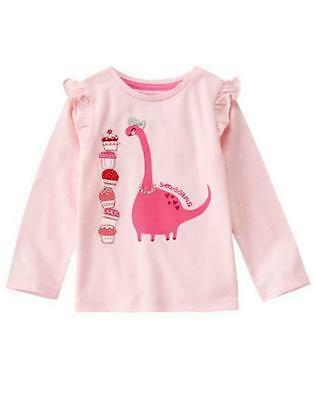 NWT Gymboree Cozy valentine Dinosaur Shirt Top Toddler Girls 2T,3T,4T,5T