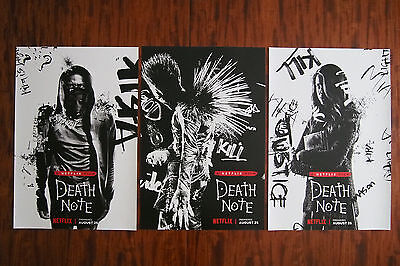 SDCC 2017 Netflix DEATH NOTE Complete Set of 3 Posters, Comic-Con Exclusive!