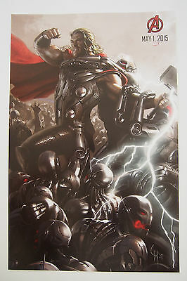 SDCC 2014 THOR, Avengers: Age of Ultron movie promo poster, Comic-Con Exclusive