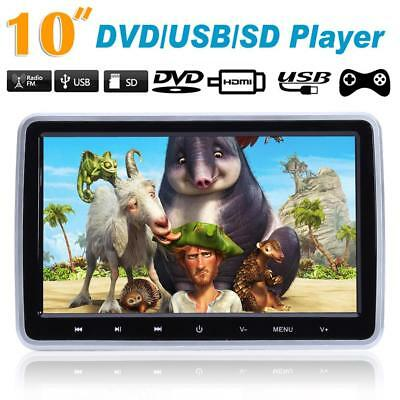 "HDMI 10"" HD Digitl LCD Screen Car Headrest Monitor DVD/USB/SD Player IR/FM Games"