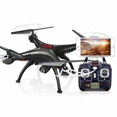 Syma X5SW-V3 2.4G RC Headless Quadcopter Drone 2MP with HD Wifi Camera Black