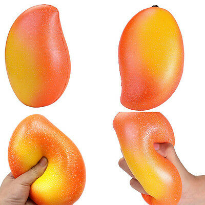 18cm Cute Jumbo Mango Slow Rising Cream Scented Phone Strap Kids Squeeze Toys