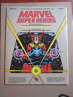 TSR MHAC 9 Marvel Super Heroes REALMS of MAGIC SC 6870 1986 Game Accessory