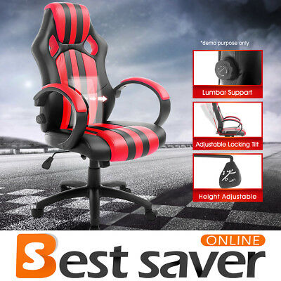 NEADER High Back Race Car Bucket Style Seat Office Desk Gaming Chair PU Leather