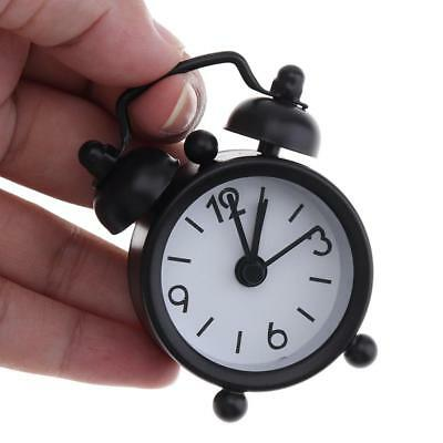40mm Mini Portable Desk Alarm Clock Round Shape with Button Batterry for home
