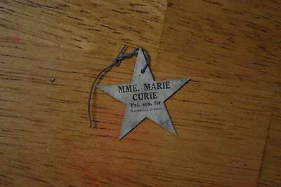 Conard-Pyle Co. Mme. Marie Curie  Rose Tag Star Shape - NICE!!