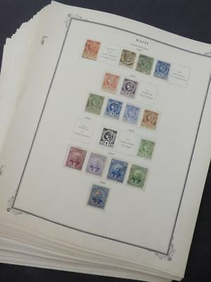 EDW1949SELL : HAITI Beautiful Mint & Used collection on pages.