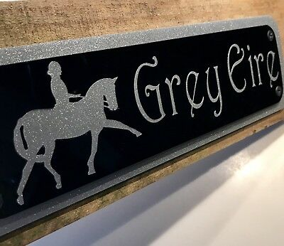 Equine Stable Door Signs, Stall Plaques Personalised To Your Horse Or Pony