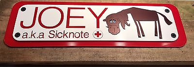 Personalised stable door horse name plaque sign plates any colour perfect gifts