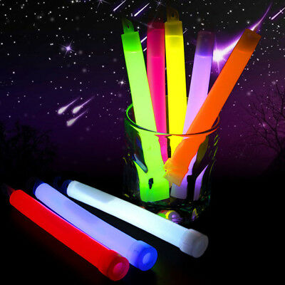 5X Pcs Glow Sticks Bracelets Necklaces Fluorescent Neon Party Mystery Halloween