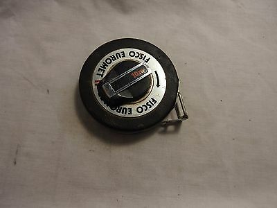 Vintage Fisco Euromet Metal Tape Measure 10m