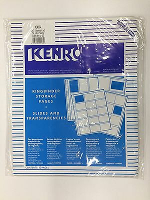 Storage pages for negatives or slider 6x7 by Kenro. 10 Items per box. New