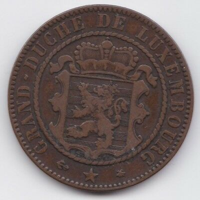 Luxembourg 10 Centimes 1865